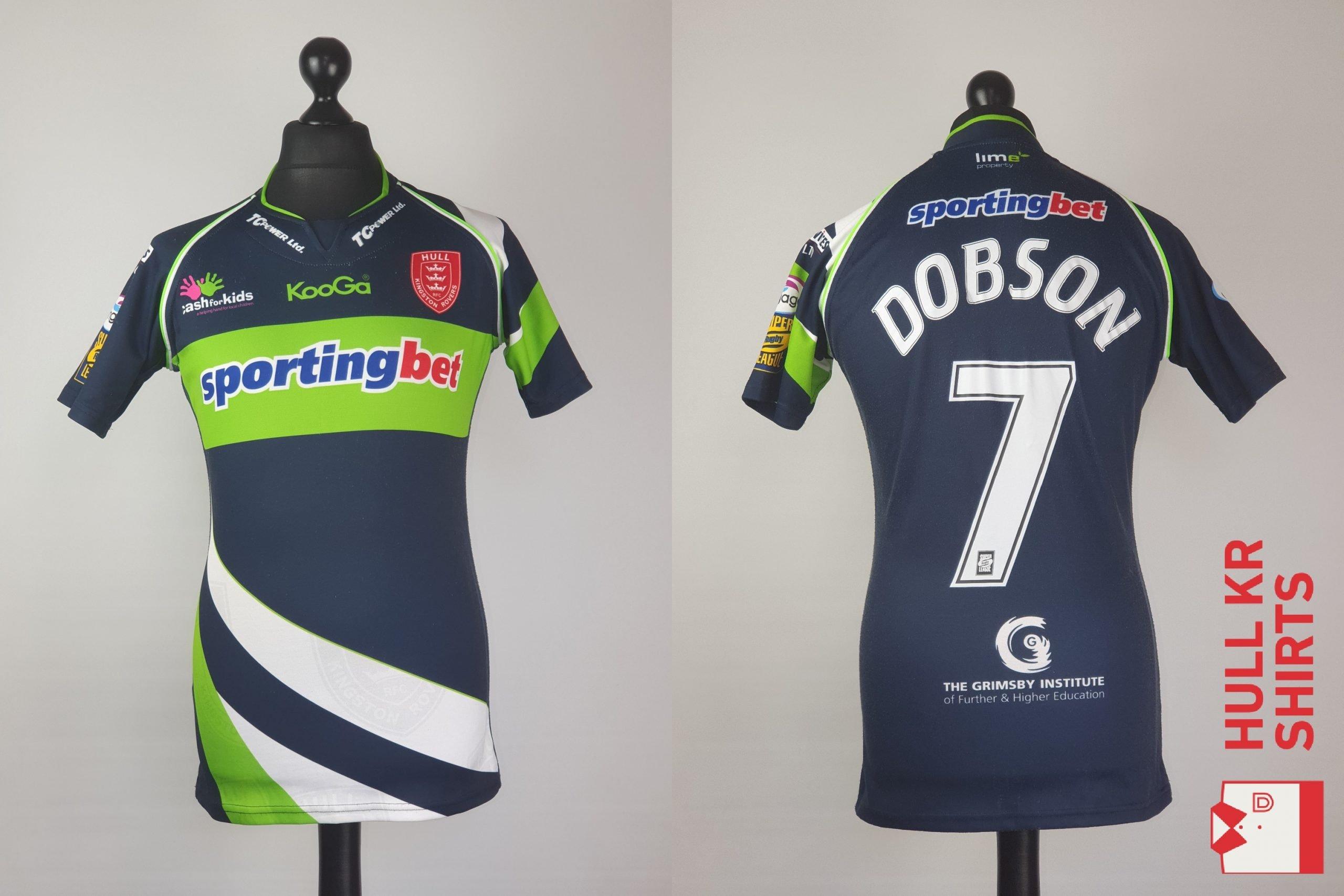 Match-Worn Michael Dobson 2010 Away Shirt